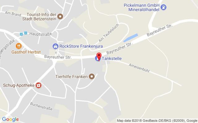 Google Map of Bayreuther Straße 22, 91282 Betzenstein